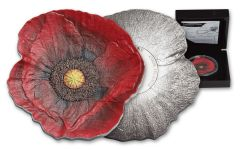 2017 Cook Islands 5 Dollar 1-oz Silver Remembrance Poppy Proof-Like