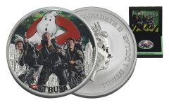 2017 Tuvalu 1 Dollar 1-oz Silver Ghostbusters Crew Brilliant Uncirculated