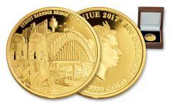 2017 Niue 100 Dollar 1-oz 8th Sydney Bridge Anniversary Proof