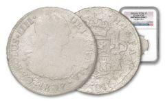 1807 Peru Silver 2 Reales SS New York NGC Shipwreck