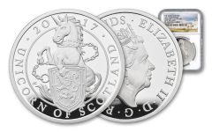 2017 Great Britain 1-oz Silver Queens Unicorn NGC PF69UCAM First Releases