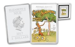 2017 Niue 1-oz 2 Dollar Silver Flowers and Trees Proof