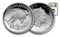 2017 Australia 1 Dollar 1-oz Silver Kangaroo High Relief NGC PF69UCAM First Struck