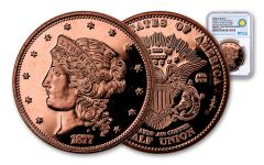1877 Smithsonian 50 Dollar 1-oz Copper Half Union NGC Gem Proof- ANA Show Release