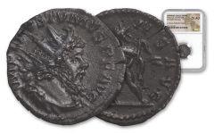 260-269 AD Roman Bronze South Petherton Hoard Postumus NGC Choice-AU