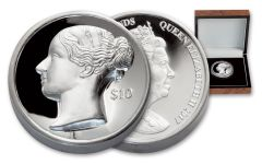 2017 British Virgin Islands 10 Dollar 2-oz Silver Queen Victoria Ultra High Relief Proof