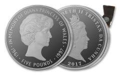 2017 Tristan da Cunha 1-oz Silver Princess Diana Proof