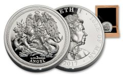 2017 Isle Of Man 2-oz Silver Angel Piedfort Proof