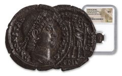 Ancient Roman Bronze Constantius II NGC MS