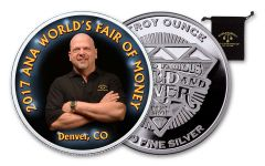 2017 1-oz Silver Denver Anniversary Rick Harrison Medal Proof