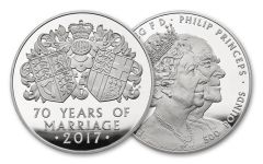 2017 Great Britain Kilo Silver 70th Wedding Anniversary Proof OGP