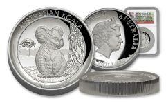2017 Australia 1 Dollar 1-oz Silver Koala High Relief NGC PF69UCAM - First Struck
