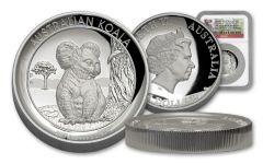 2017 Australia 1 Dollar 1-oz Silver Koala High Relief NGC PF70UCAM - First Strike