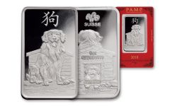 2018 PAMP 1-oz Silver Lunar Year Of The Dog Proof