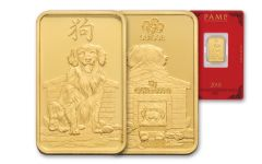 2018 PAMP 5 Gram Gold Lunar Year Of The Dog Proof