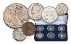 1943–1944 75th Anniversary Steel Cent WWII 6-Piece Collection Circulated