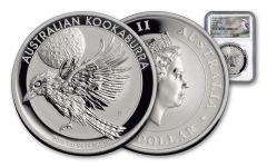 2018 Australia 1 Dollar 1-oz Silver Kookaburra NGC MS69 First Releases