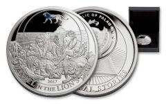 2017 Palau 2 Dollar 1/2-oz Silver Daniel In the Lions Den Proof