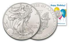 2018 1 Dollar 1-oz Silver Eagle BU Birthday Balloons