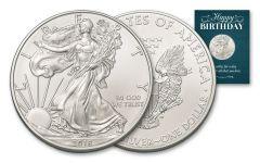 2018 1 Dollar 1-oz Silver Eagle BU Birthday Traditional