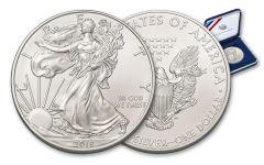 2018 $1 1-oz Silver American Eagle BU in US Mint Presentation Box
