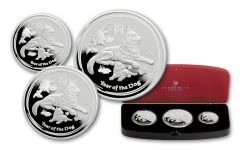 2018 Australia Silver Year Of The Dog Shepherd Proof 3pc