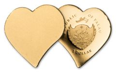 Palau 1 Dollar 1/2 Gram Gold Everlasting Love Proof