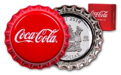 2018 Fiji $1 Silver Coca-Cola Bottle Cap Proof