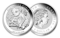 2018 Australia 1 Dollar 1-oz Silver Koala Uncirculated