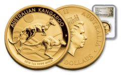 2018 Australia 100 Dollar 1-oz Gold Kangaroo NGC MS70 First Releases