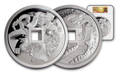 2018 China Kilo Silver Phoenix & Dragon NGC PF70UCAM First Releases