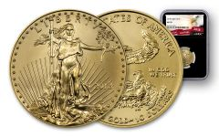 2018 10 Dollar 1/4-oz Gold Eagle NGC MS70 Eagle Label - Black