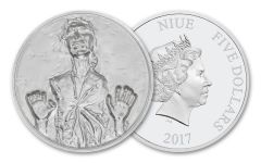 2017 Niue 2-oz Silver Han Solo Ultra High Relief Proof