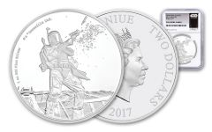 2017 Niue 1-oz Silver Star Wars Boba Fett NGC PF69UCAM