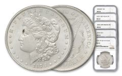 1878 Morgan Silver Dollar NGC MS63 5pc Set
