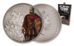 2018 2 Dollar 1-oz Silver Battle Of Hastings Antique