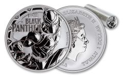 2018 Tuvalu 1 Dollar 1-oz Silver Black Panther BU Roll of 20