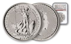 2018 Great Britain 100 Pound 1-oz Platinum Britannia NGC GEM Uncirculated First Releases
