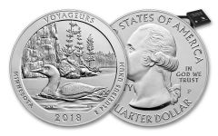 2018-P Voyageurs National Park 5-oz Silver America The Beautiful Specimen OGP
