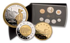 2018 Canada Silver 240th Anniversary of Captain Cook at Nootka Sound Proof 7-Coin Set