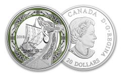 2018 Canada 20 Dollar 1-oz Silver Norse Northern Fury Proof