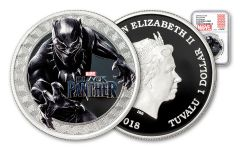 2018 Tuvalu $1 1-oz Silver Black Panther NGC PF70UC First Releases