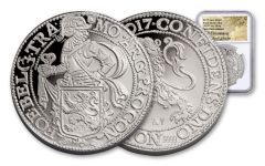 2017 Netherlands 1-oz Silver New York Lion Dollar NGC Gem BU New World Label