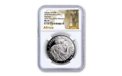 2018 Somalia 100 Shilling 1-oz Silver Elephant Berlin World Fair NGC MS69 Early Releases