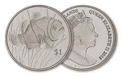 2018 British Virgin Islands 1 Dollar Copper-Nickel Clownfish BU