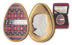 2018 Canada 20 Dollar 1-oz Silver Spring Pysanka Egg Colorized Proof