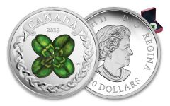 2018 Canada 20 Dollar 1-oz Silver Lucky Clover Proof