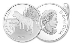 2018 Canada 20 Dollar 1-oz Silver Nature Impression Wolf Proof