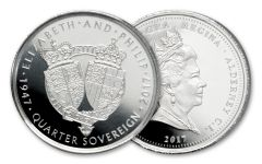 2017 Alderney Platinum Quarter Sovereign Proof