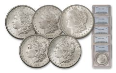1878-1882-S Morgan Silver Dollar NGC/PCGS MS63 5pc Set